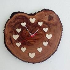 Kütükten Kalp Saat